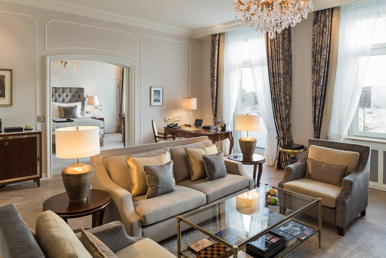 Hotelfotografie Fairmont Hotel Vier Jahreszeiten Suite