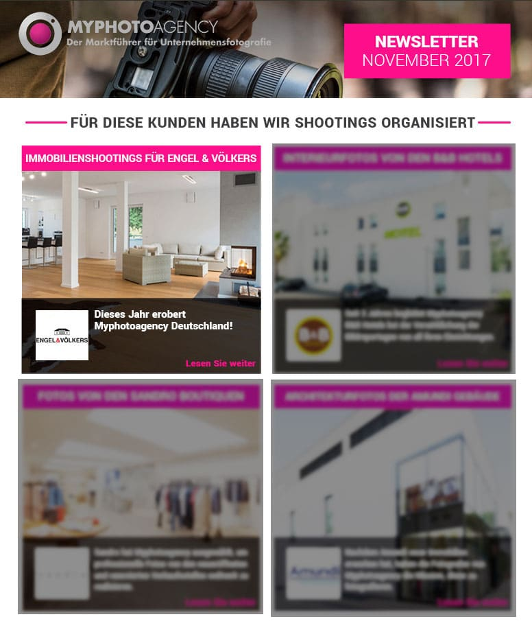 MyPhotoAgency Immobilien Newsletter