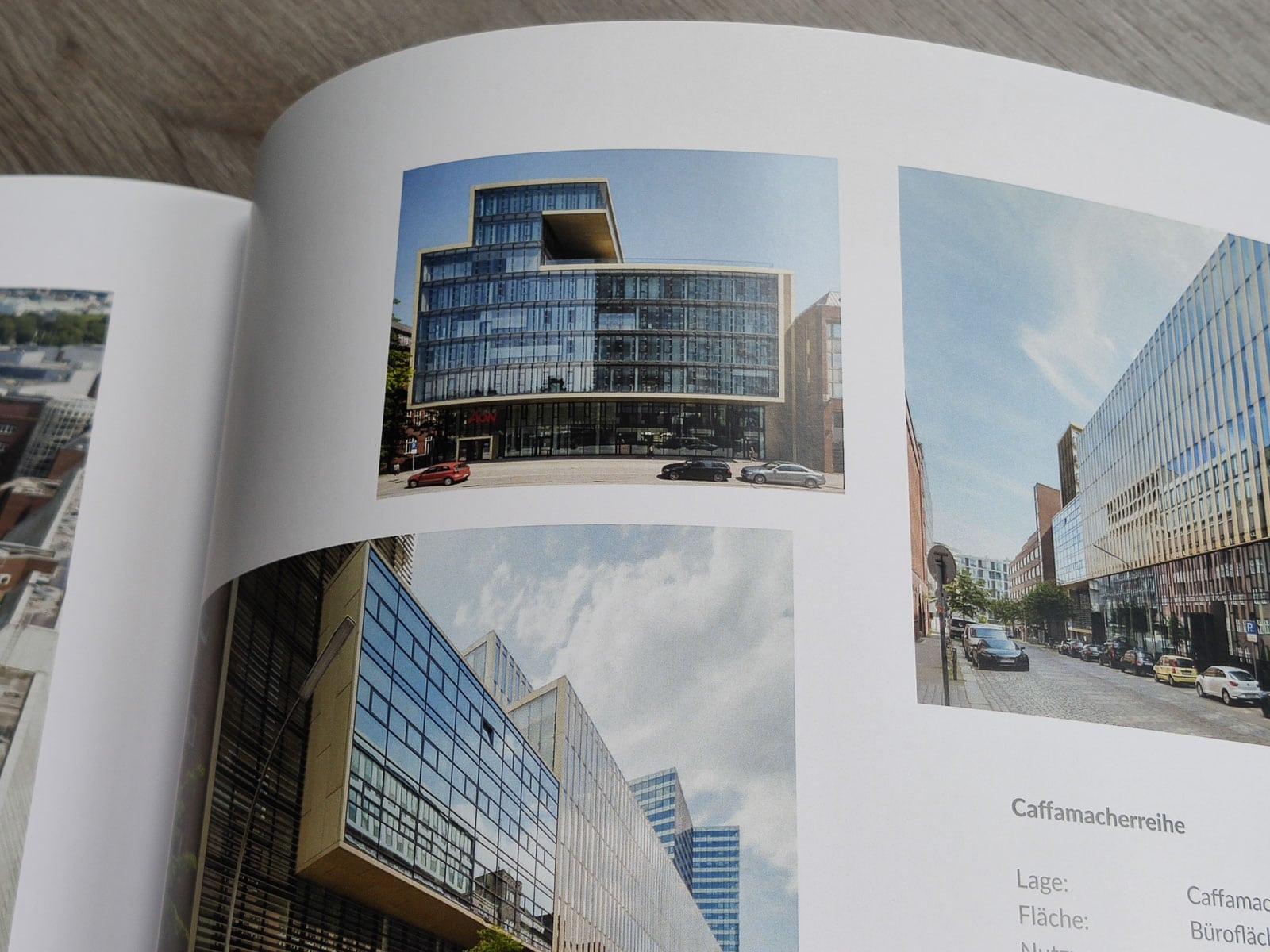 Architekturfoto goldenes Haus Hamburg