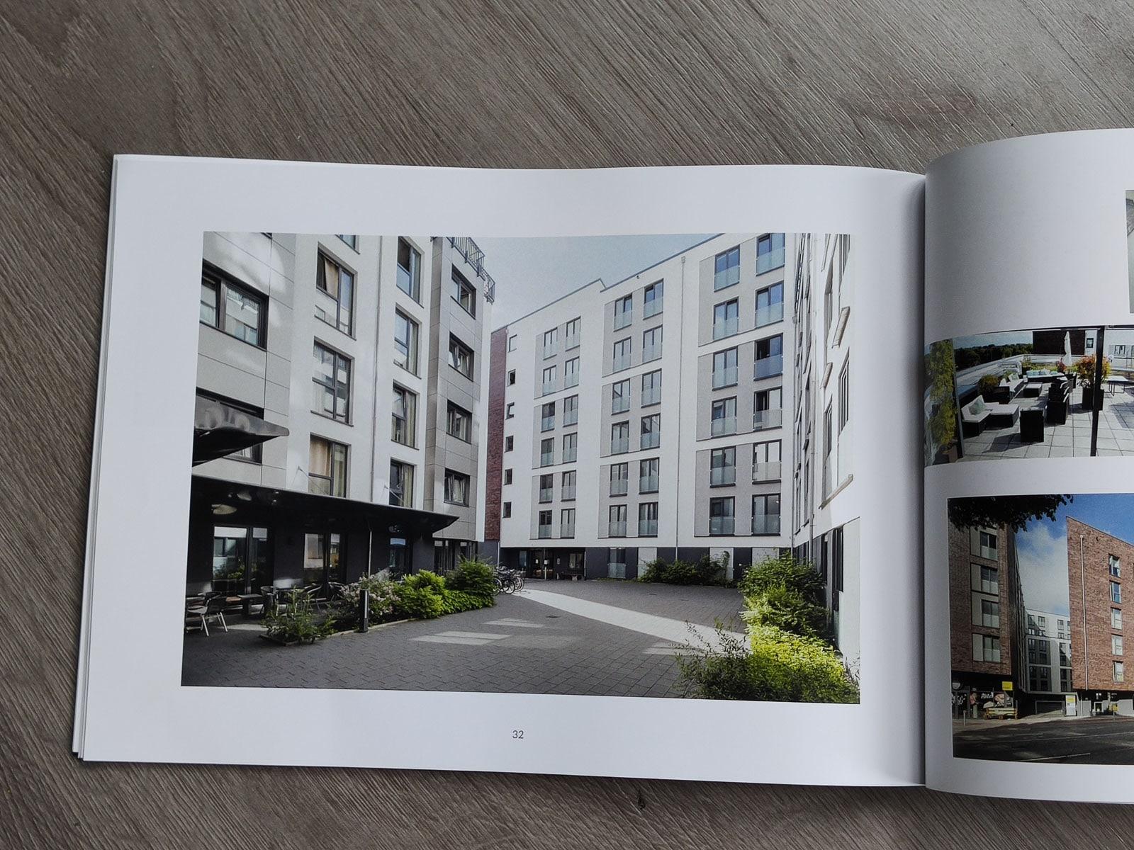 Innenhof Architektur Hanseatische Bau Konzept
