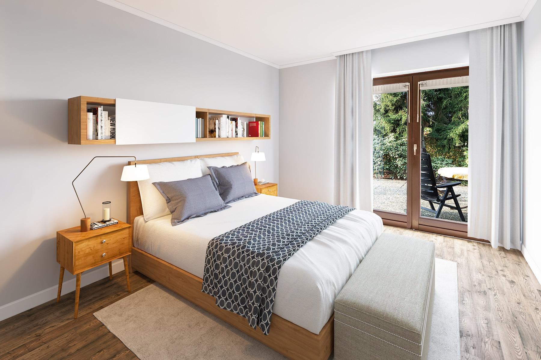 Digitale Renovierung Schlafzimmer