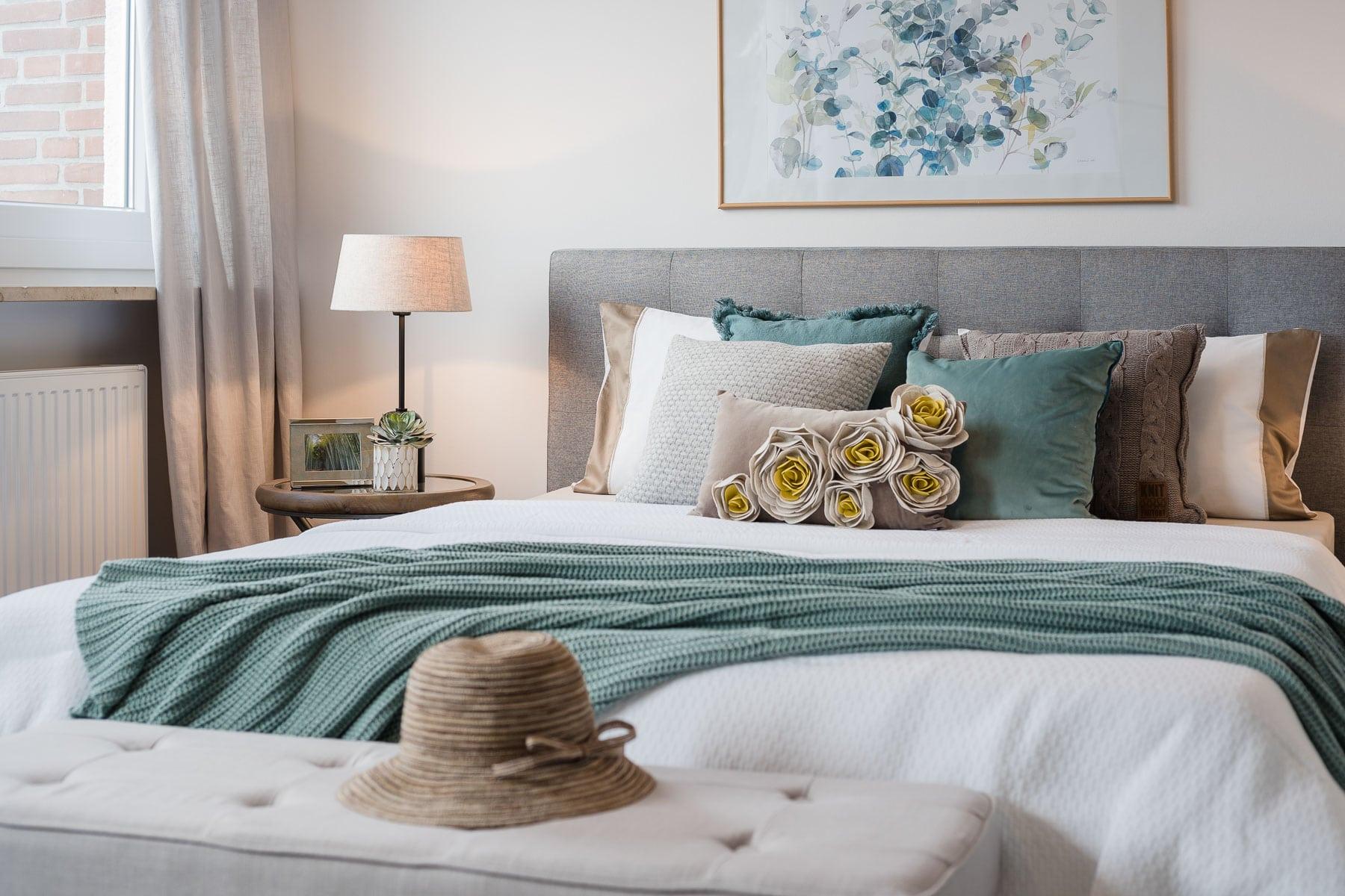 Detailfoto Bett Interior Fotograf