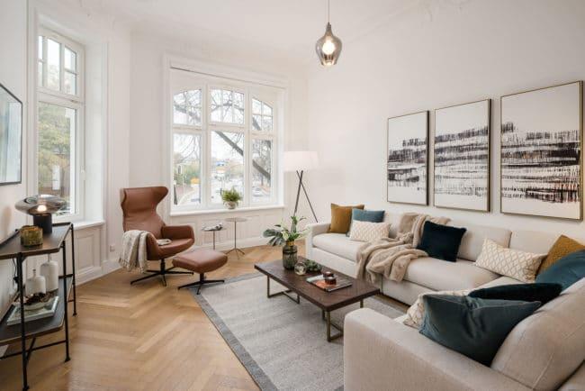 Altbau Architekturfotografie Wohnzimmer